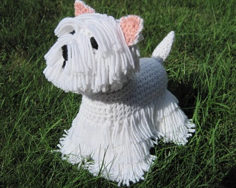 Westie PDF Crochet Pattern - Digital Download - ENGLISH ONLY