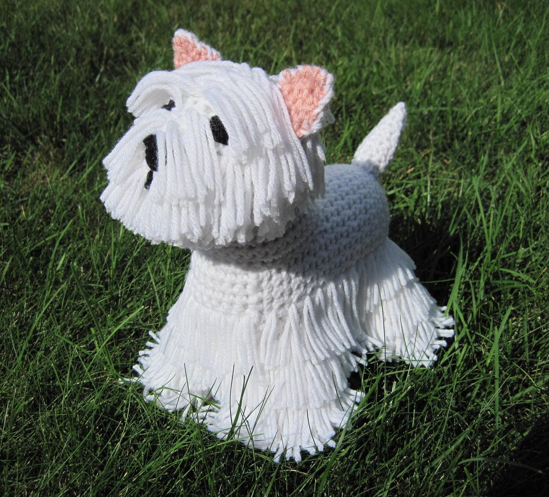 Westie PDF Crochet Pattern Digital Download ENGLISH ONLY
