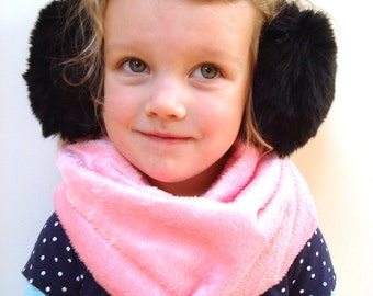 Kids scarf, infinity scarf, winter accessory, gift for children