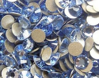 200 pcs LIGHT SAPPHIRE Swarovski Crystal 2028 ss5 Rhinestone Flatbacks Non Hotfix