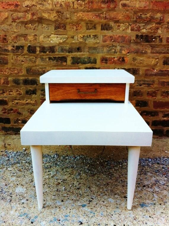 Rustic Mid Century Side Table