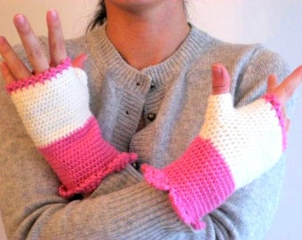 Pink ,to Beige ,Dantela ,Mittens ,Women