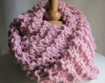 Soft and Plush Pink Cowl Scarf Neck Warmer