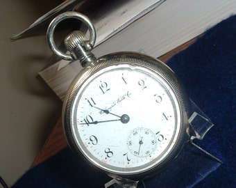 Highly Collectible Huge Washington Watch Co. Liberty Bell Pocket Watch
