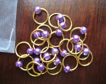 Purple Lace Stitch Markers