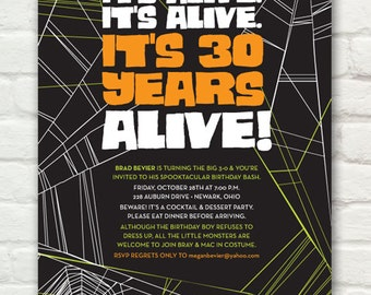 Halloween Party Invitation — Birthday Party Invitation —Printable It's Alive Invite