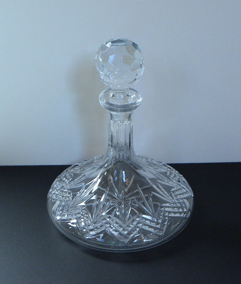 decanter set crystal