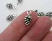 16 Pinecone charms tibetan silver L117