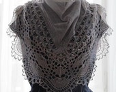 Across the Beach PATTERN PDF Lace shawl in pure silk