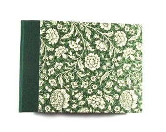 green floral Photo Album Renaissance Flower - black pages