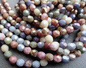6mm Fire Polished Luster Mix - Czech Glass Beads - Pastel Mix - Bead Soup Beads