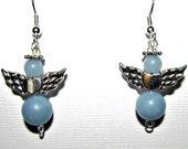 Handmade Angelite Angels Gemstone Earrings