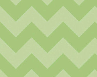 Chevron in LARGE Tone on Tone Green by Riley Blake Designs, 1/2 YARD