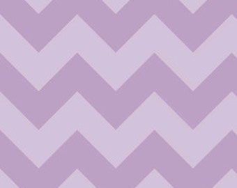 Chevron in LARGE Tone on Tone Lavender by Riley Blake Designs 1/2 yard total