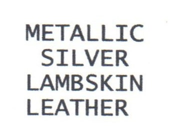 "5320 - metallic silver leather fabric Lambskin/11.75""x6.5""/ New cut from hide/ textured shiny leather/craft supplies/machine sewable/metalic"