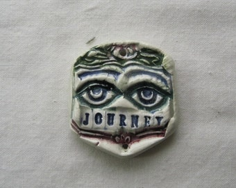 JOURNEY ceramic milagro pendant amulet