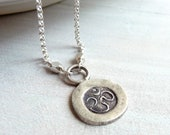 Om Necklace, Ohm Necklace, Yoga Jewelry, Sterling Silver Yoga Charm, Sterling Silver Charm Necklace - karinagracejewelry