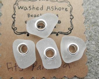 White Wedding Lake Erie Beach Glass Beads