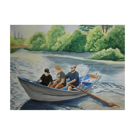 Goin' Fishin' on the Wynoochee - Limited Edition Print