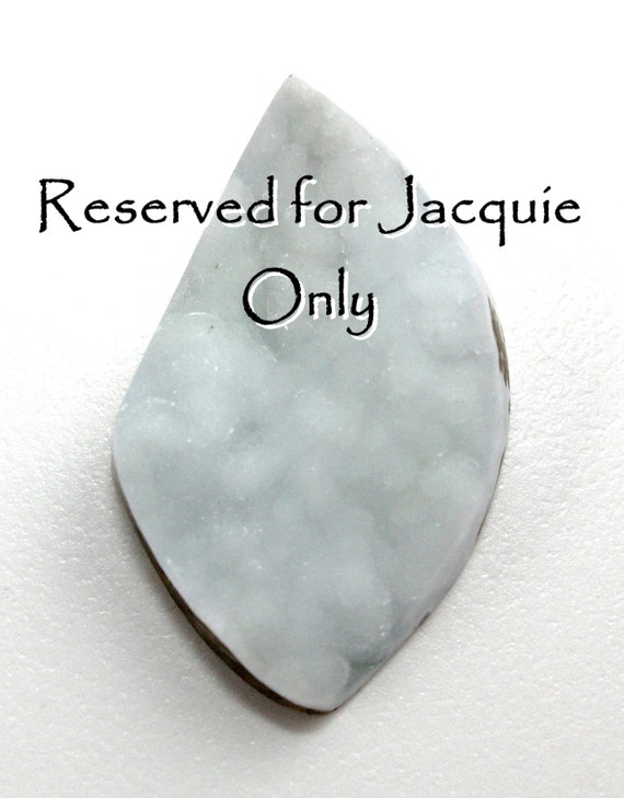 Reserved for Jacquie Only Glimmering Pale Aqua Ice Hemimorphite Druzy Cabochon