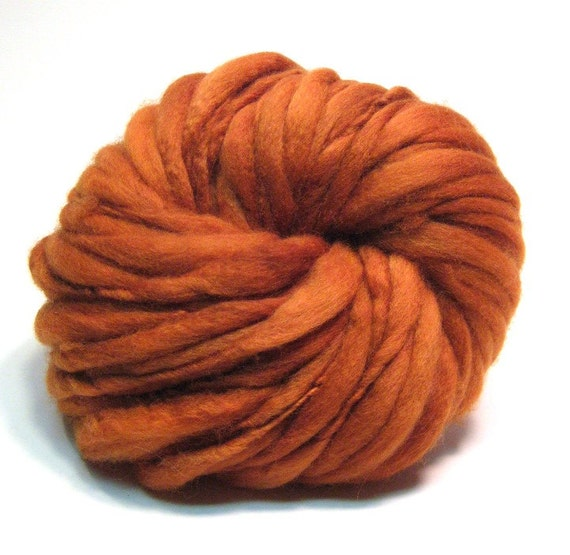 Super bulky thick and thin handspun yarn in merino wool- 51 yards, 3.0 ounces/ 86 grams