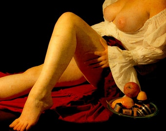 Artistic nude photo print with painting look - Caravaggio Inspired - 04