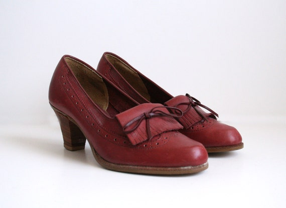 Bass Oxblood Leather Shoes ($78)
