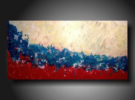 Art Painting Original Jmjartstudio Original Painting 24 X 48 Inches ------Beneath the surface