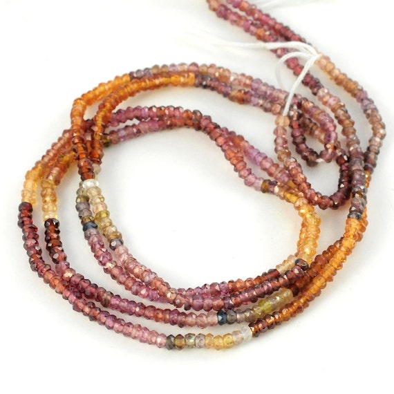 Multi Color Garnet Roundels - 2.5mm. - Reserved for LTanbara