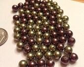 Green and Purple Swarovski Crystal Pearls
