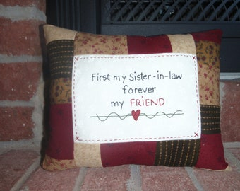 Sister-In-law Friend Pillow