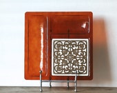1960s Georges Briard Tray Plastic Ceramic Tile