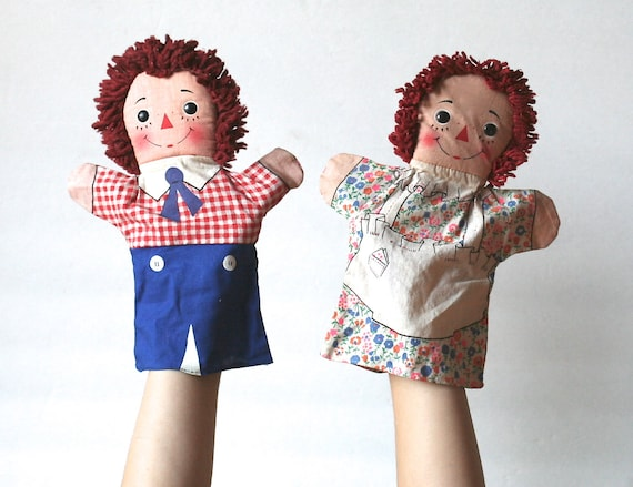 Knickerbocker Raggedy Ann And Andy Hand Puppets 10