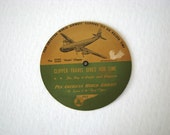 Vintage PANAM Time Selector Chart Paper Disc Advertising