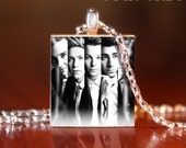 Black and white One Direction -G- Scrabble Tile Pendant- One Direction Necklace