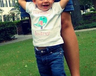Big Sister Bird Shirt - Big Sister Shirt - Big Sis Shirt - Personalized Sibling Shirt - Birdie Shirt - Baby Shower Gift