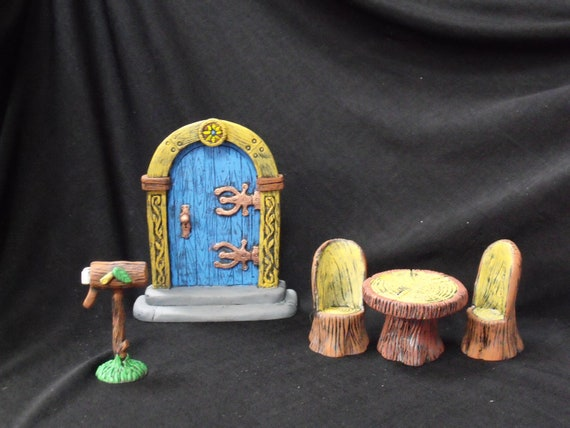 Fairy Garden Starter Kit - door, mailbox, table and chairs