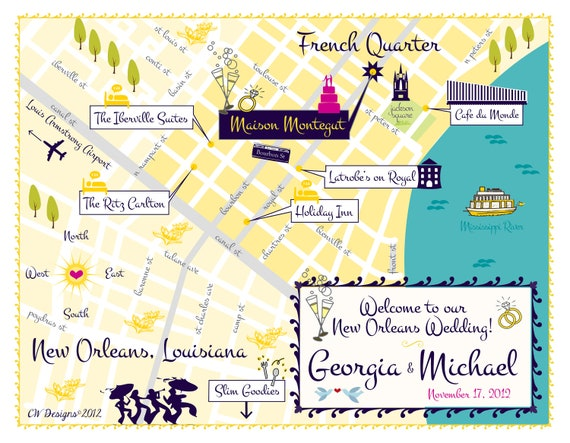 Wedding Invitations New Orleans: As Seen On STYLE ME PRETTY New Orleans Wedding By