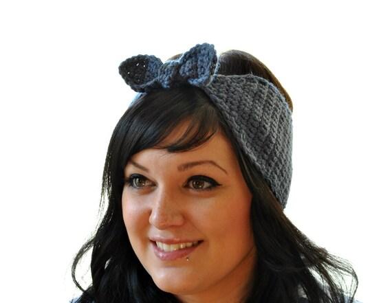 The Bombshell - Crochet Winter Headband Retro Bandana Tie Headscarf Pick your Color