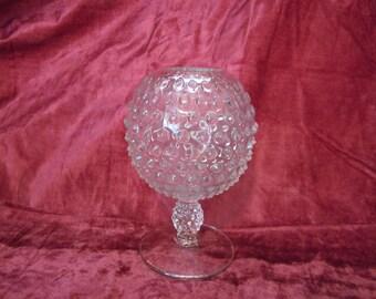 Hobnail Ivy Ball in Clear Vintage Duncan Miller Vase