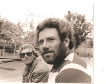 Bearded Man, Man in Big Sunglasses Vintage 8 X 10 Black and White Photograph Picture