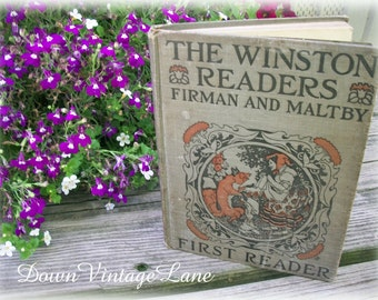 The WINSTON READERS First Reader Childrens Book 1918 VINTAGE Book