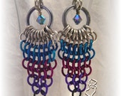 Starburst Chainmail Earrings