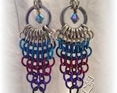 Starburst Chainmail Earrings