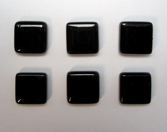 Black Glass Magnet Set