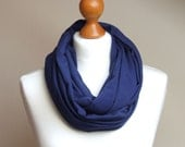 Infinity Circle Scarf Shawl Loop NAVY BLUE scarves infinity fabric necklace fall fashion