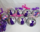 Hand Painted Personalized Bridal Party Ornament  - GIFT BOXING AVAILABLE