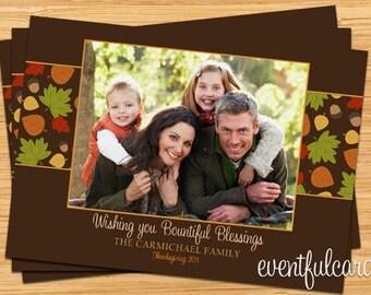 Customizable Thanksgiving Photo Card - Printable