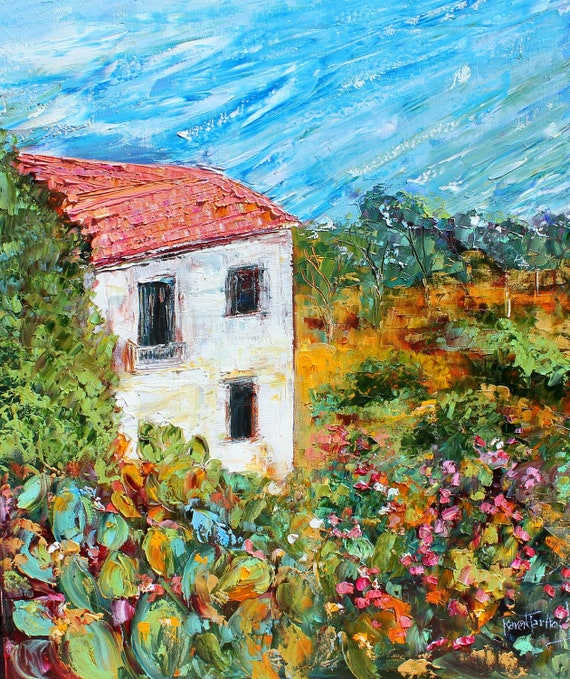 Commission Reserved for Liz landscape painting by Karen Tarlton