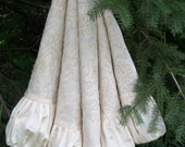 """56"""" Exquisite Winter White Gathered  Christmas Tree Skirt 2012 Collection READY TO SHIP"""